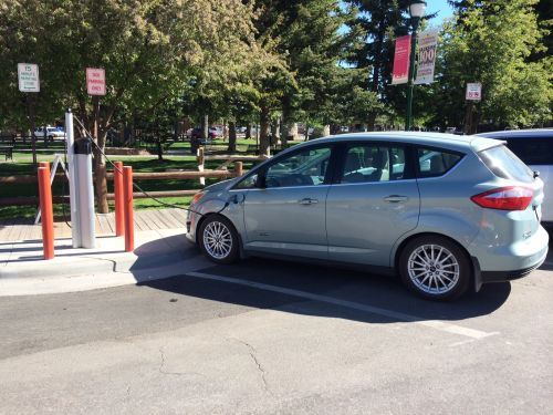 Electric Vehicle Charging on Town Square