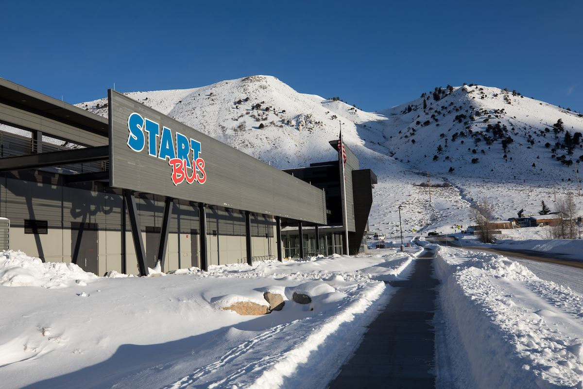 START Bus Station Winter