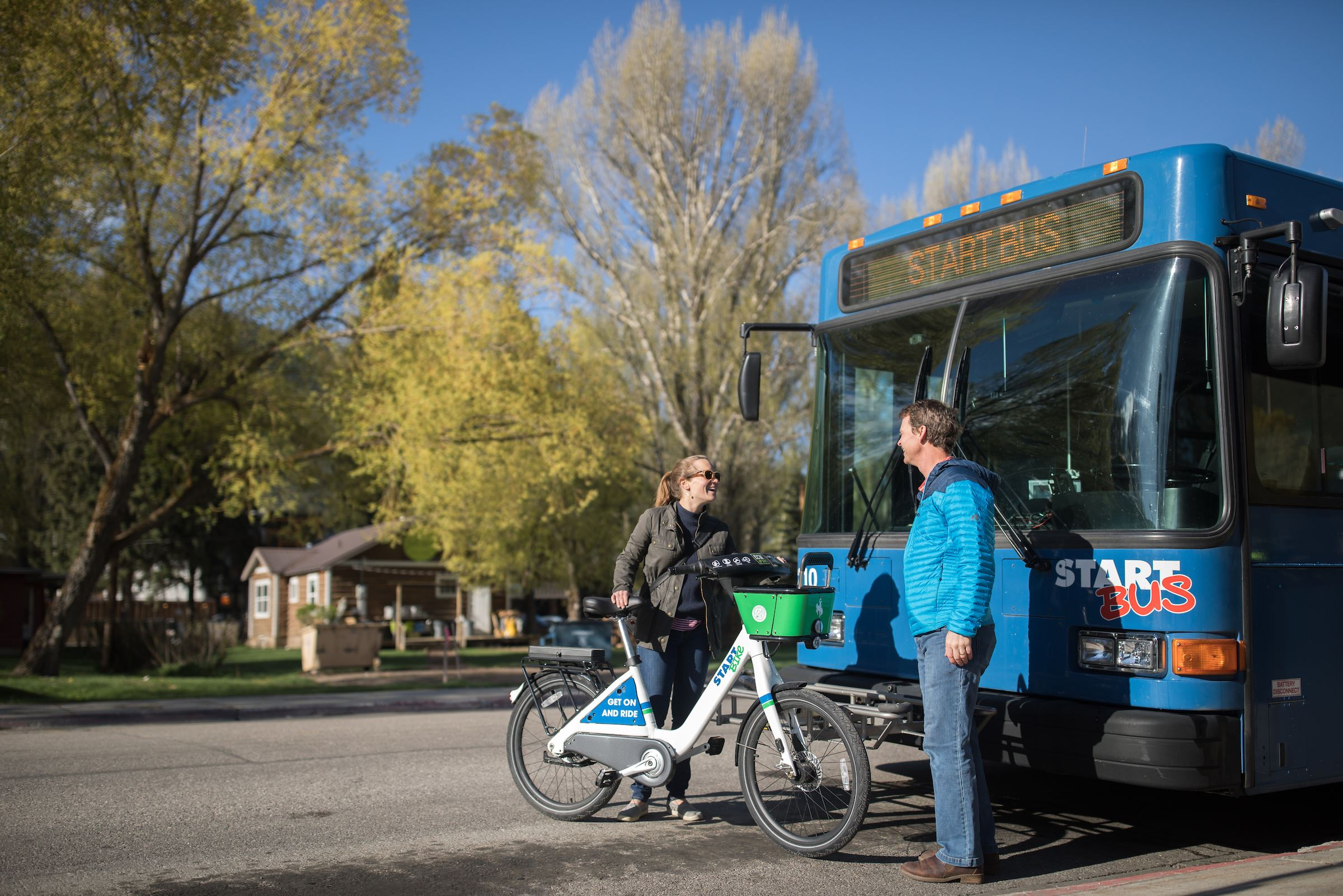 Image of START Bus and START Bike in use