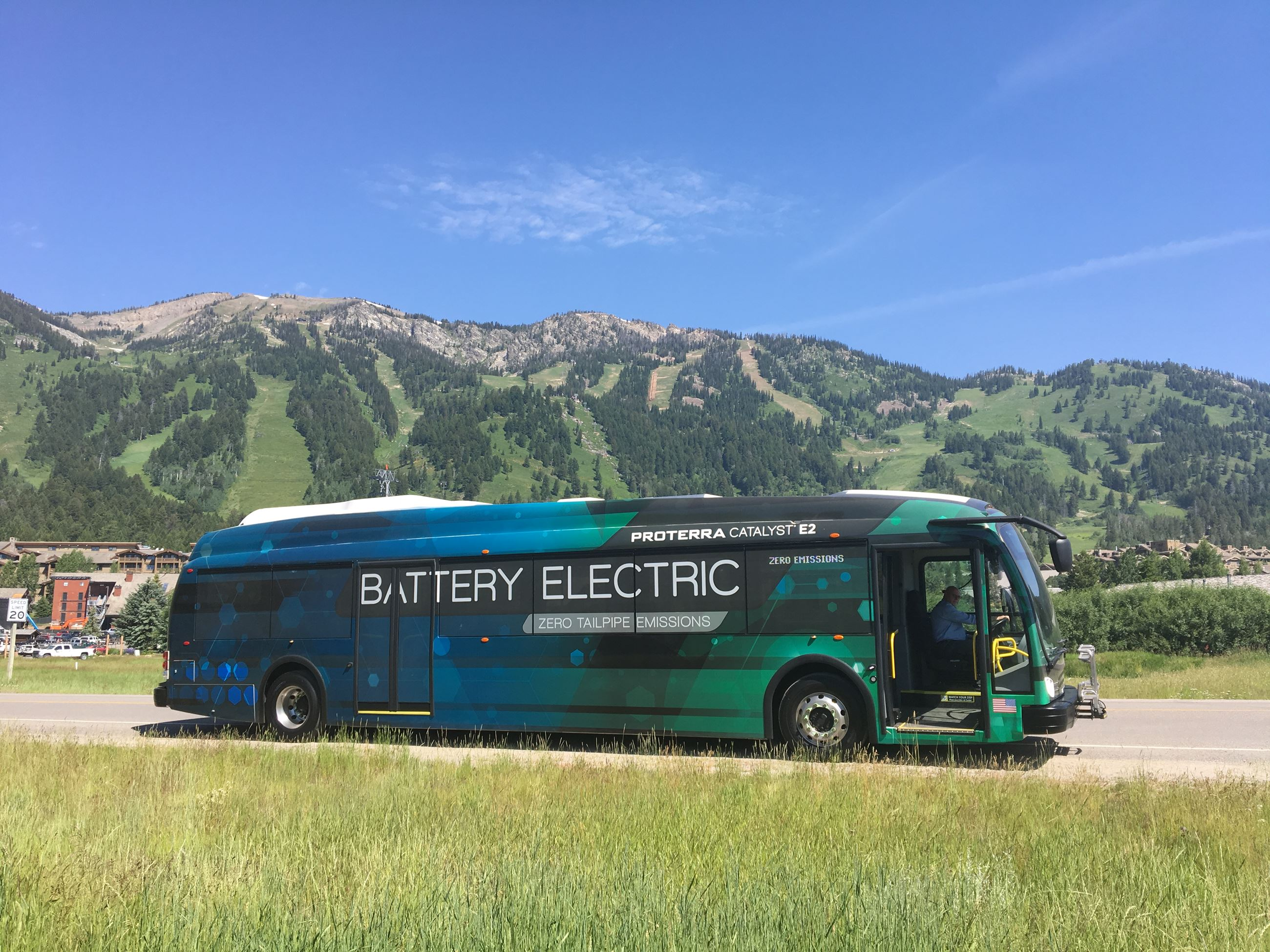 Image of a Proterra bus